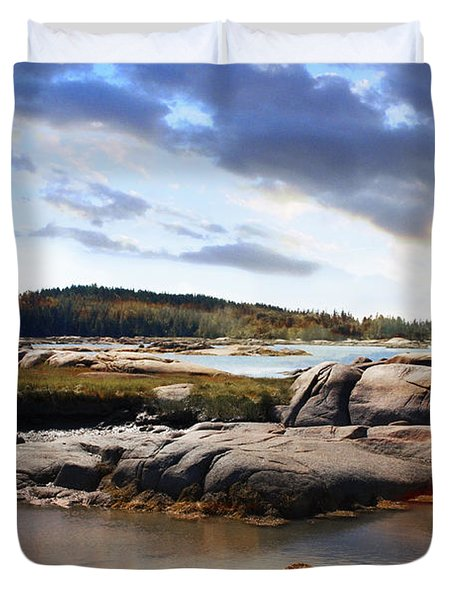 The Basin, Vinalhaven, Maine Duvet Cover
