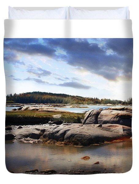 The Basin, Vinalhaven, Maine Duvet Cover