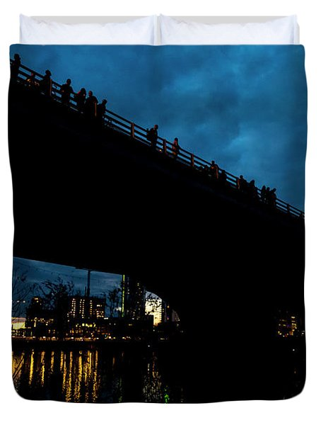 The Bat Bridge Austin Texas Duvet Cover