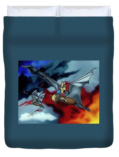 The Bat Riders Duvet Cover