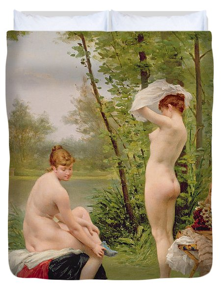 The Bathers Duvet Cover by Jules Scalbert