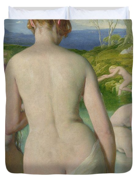 The Bathers Duvet Cover by William Mulready