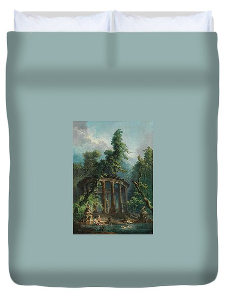The Bathing Pool Duvet Cover