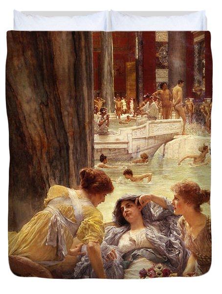 The Baths Of Caracalla Duvet Cover