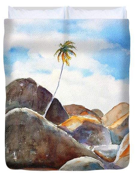 The Baths Palm Tree Duvet Cover