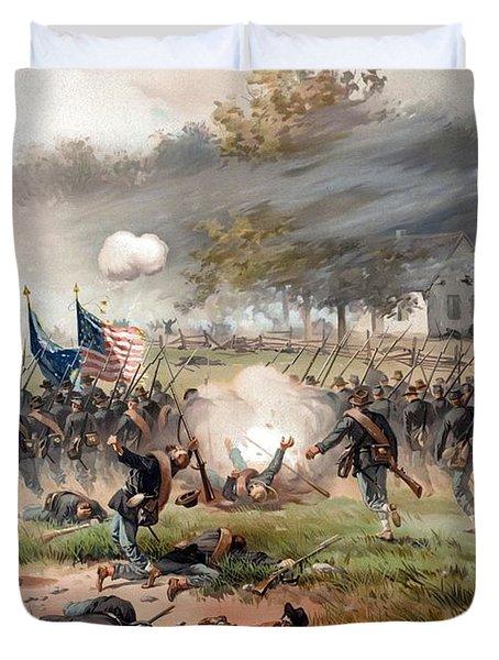 The Battle Of Antietam Duvet Cover