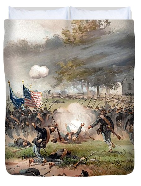 The Battle Of Antietam Duvet Cover by War Is Hell Store