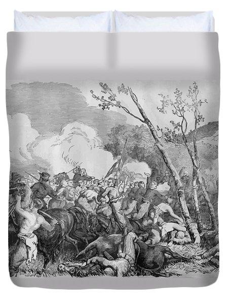 The Battle Of Bull Run Duvet Cover