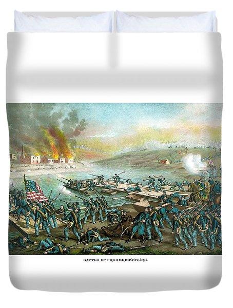 The Battle Of Fredericksburg Duvet Cover