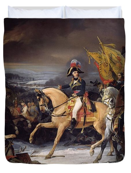 The Battle Of Hohenlinden Duvet Cover by Henri Frederic Schopin