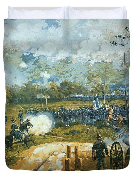 The Battle Of Kenesaw Mountain Duvet Cover by American School