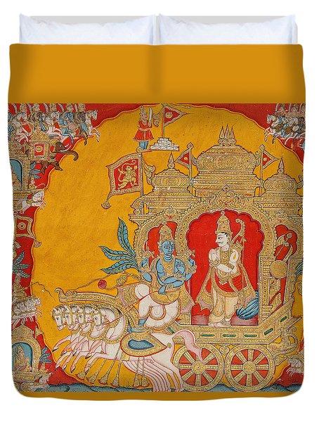The Battle Of Kurukshetra Duvet Cover