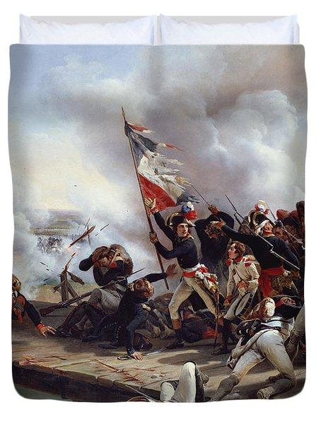 The Battle Of Pont D'arcole Duvet Cover by Emile Jean Horace Vernet