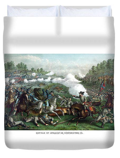 The Battle Of Winchester Duvet Cover by War Is Hell Store