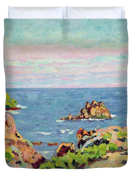The Baumettes Duvet Cover by Jean Baptiste Armand Guillaumin