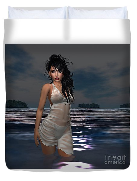 The Beach 1 Duvet Cover