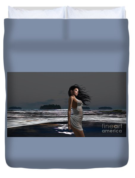 The Beach 3 Duvet Cover