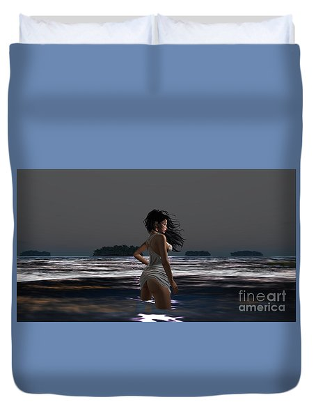 The Beach 4 Duvet Cover
