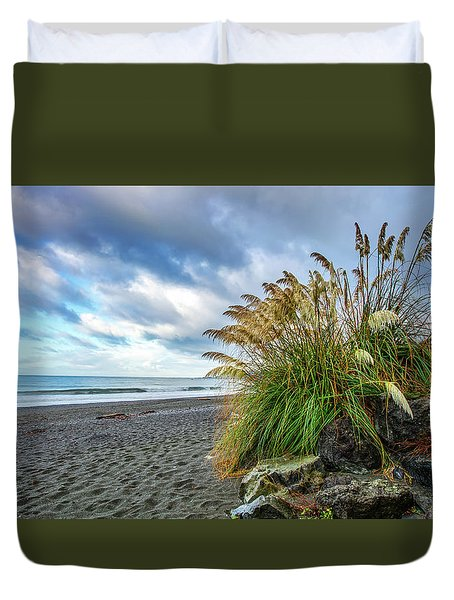 The Beach At Brookings Duvet Cover