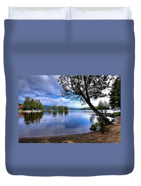 Duvet Cover featuring the photograph The Beach At Covewood Lodge by David Patterson