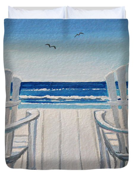 The Beach Chairs Duvet Cover