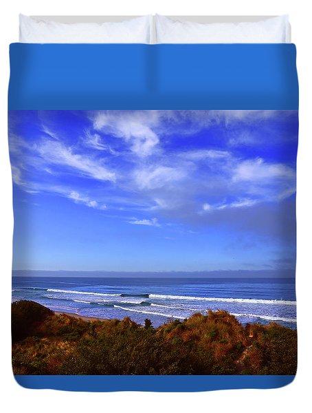The Beach Is Blue Duvet Cover