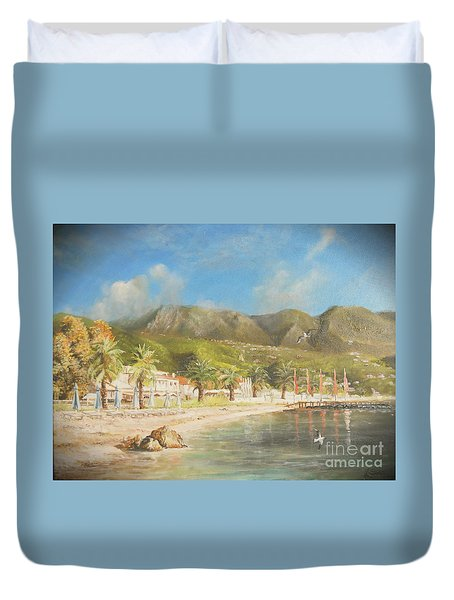 The Beach Of Ipsos Duvet Cover
