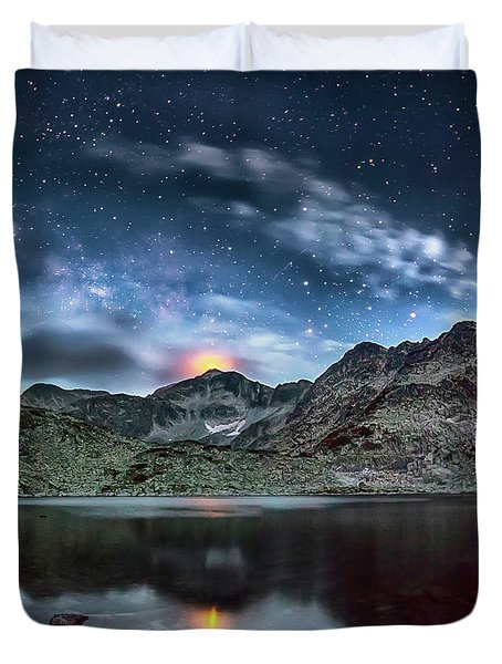The Beacon Duvet Cover by Evgeni Dinev