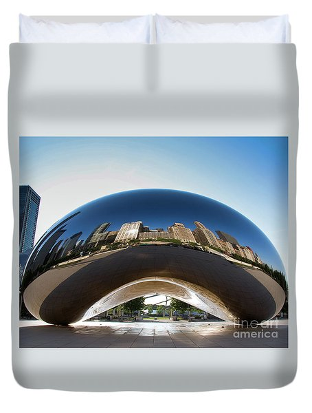 The Bean's Early Morning Reflections Duvet Cover