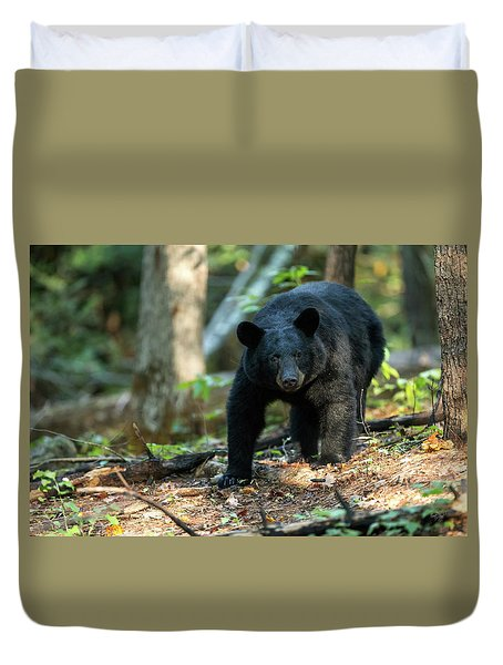 Duvet Cover featuring the photograph The Bear by Everet Regal