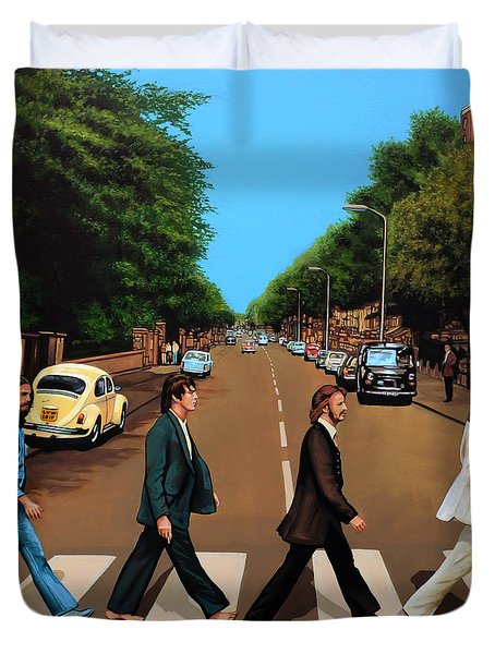 The Beatles Abbey Road Duvet Cover by Paul Meijering