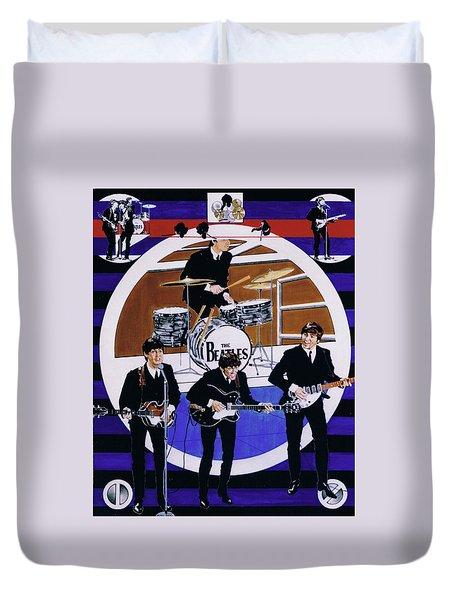 The Beatles - Live On The Ed Sullivan Show Duvet Cover