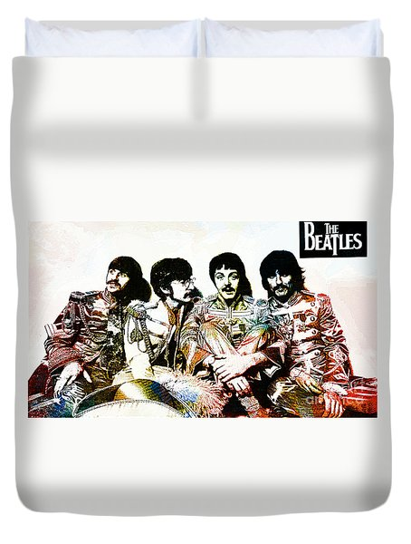 The Beatles--sargent Peppers Lonely Hearts Club Band Duvet Cover