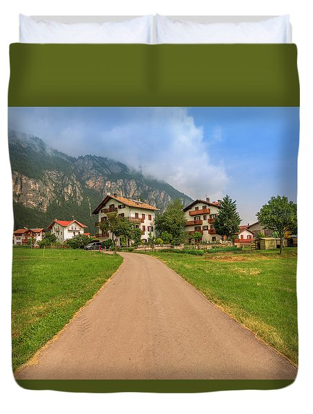 Duvet Cover featuring the photograph The Beautiful Dolomites by Roy McPeak