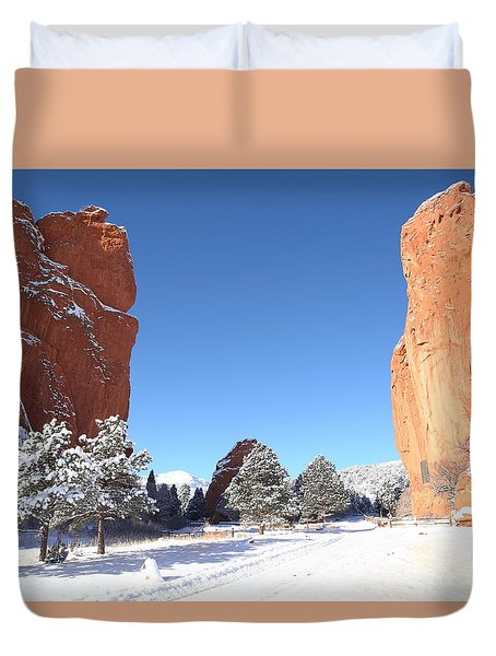 The Beautiful Gate Duvet Cover by Eric Glaser