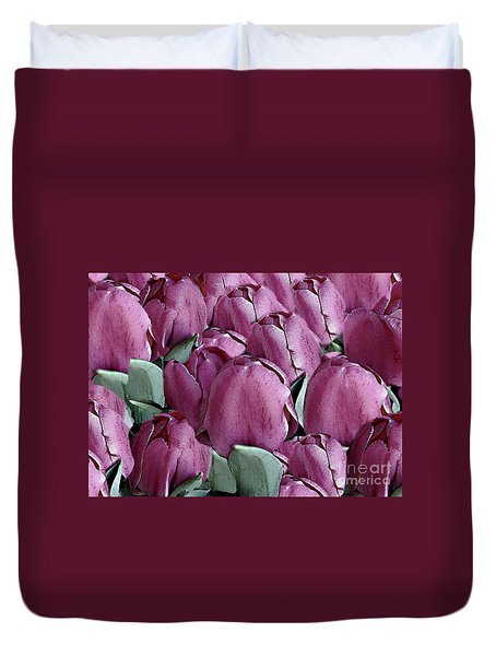 The Beauty And Depth Of A Bed Of Tulips Duvet Cover