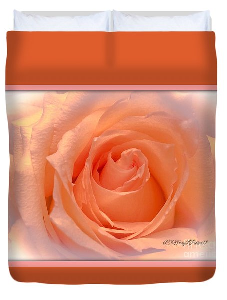 The  Beauty Of A Rose  Copyright Mary Lee Parker 17,  Duvet Cover