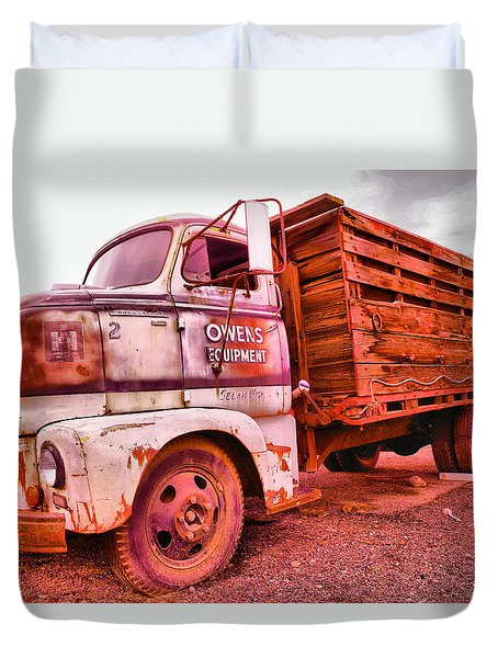 Duvet Cover featuring the photograph The Beauty Of An Old Truck by Jeff Swan