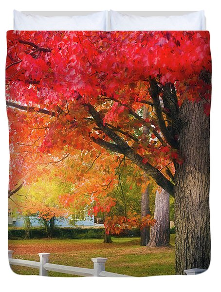 The Beauty Of Autumn In New England Duvet Cover