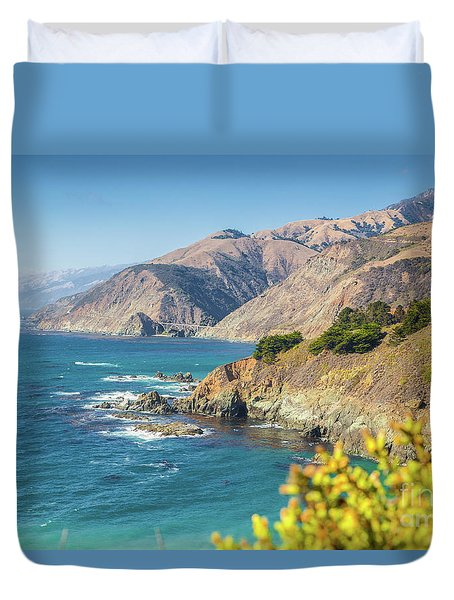 The Beauty Of Big Sur Duvet Cover by JR Photography