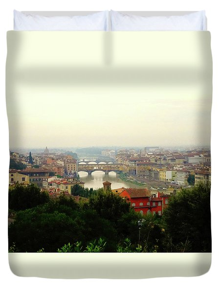 Duvet Cover featuring the photograph The Beauty Of Florence  by Alan Lakin