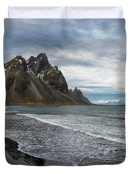 Duvet Cover featuring the photograph The Beauty Of Iceland by Sandra Bronstein