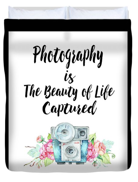 Duvet Cover featuring the digital art The Beauty Of Life by Colleen Taylor