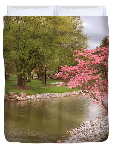 Duvet Cover featuring the photograph The Beauty Of Spring by Angie Tirado