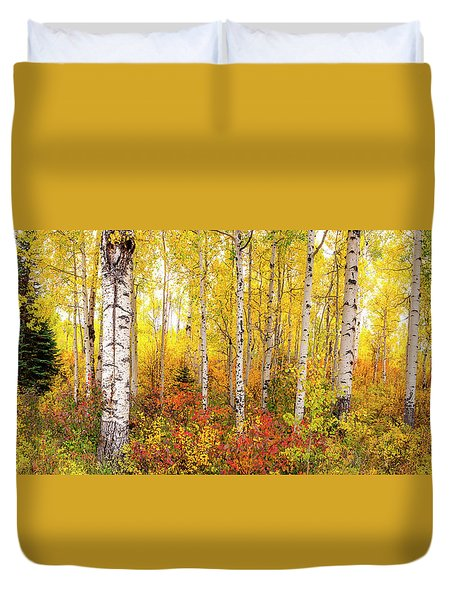 The Beauty Of The Autumn Forest Duvet Cover