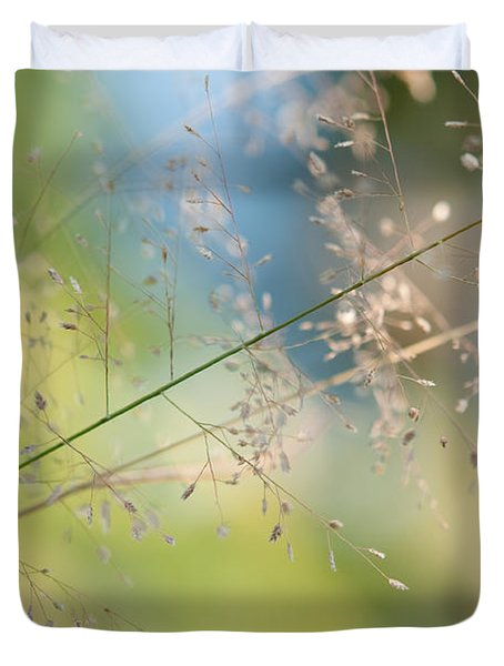 The Beauty Of The Earth. Natural Watercolor Duvet Cover by Jenny Rainbow