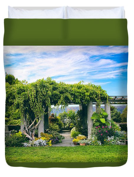 The Beauty Of Wave Hill Duvet Cover by Jessica Jenney