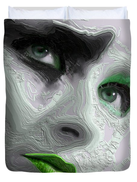 The Beauty Regime Green Duvet Cover by ISAW Gallery