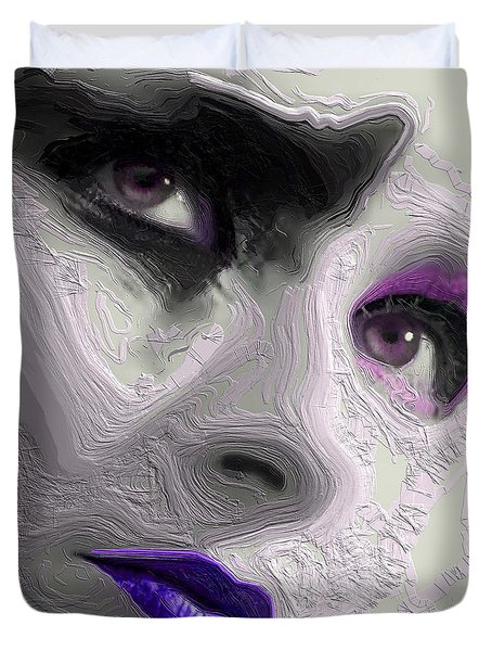 The Beauty Regime Purple Duvet Cover by ISAW Gallery