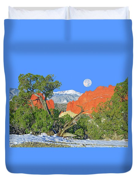 The Beauty That Takes Your Breath Away And Leaves You Speechless. That's Colorado.  Duvet Cover by Bijan Pirnia